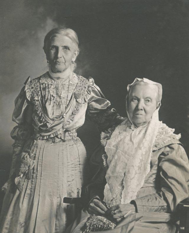 Emmeline B. Wells y Bathsheba W. Smith